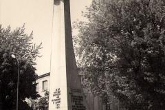 Pomnik Zwycięstwa (obecnie Pomnik Wdzięczności) w Nisku. Zdjęcie z lat 70. XX w.