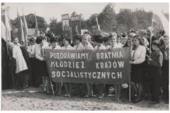Pochód pierwszomajowy lata 70-te (arch. pryw. K. Cerwik)