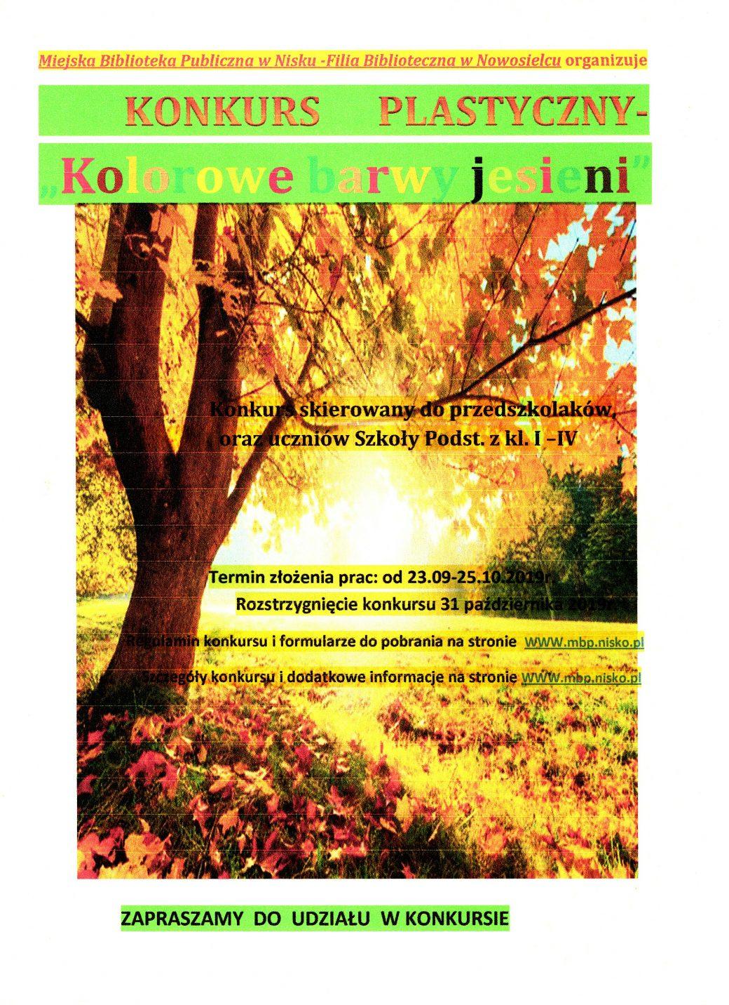 Kolorowe Barwy Jesieni Miejska Biblioteka Publiczna W Nisku